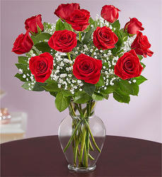 12 Red Rose Bouquet  from Clermont Florist & Wine Shop, flower shop in Clermont