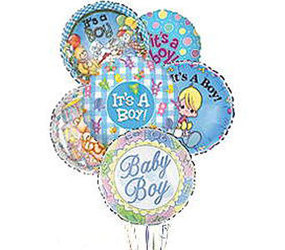 It's A Boy! Balloon Bunch from Clermont Florist & Wine Shop, flower shop in Clermont