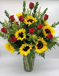 Sunflowers and Roses Bouquet from Clermont Florist & Wine Shop, flower shop in Clermont