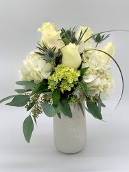 White Marble Vase from Clermont Florist & Wine Shop, flower shop in Clermont