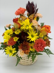 Autumn Woven Wicker Basket from Clermont Florist & Wine Shop, flower shop in Clermont