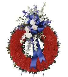 All American Tribute Wreath from Clermont Florist & Wine Shop, flower shop in Clermont