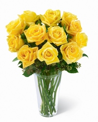 Yellow Rose Bouquet from Clermont Florist & Wine Shop, flower shop in Clermont