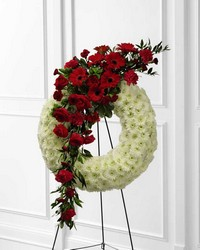 Graceful Tribute(tm) Wreath from Clermont Florist & Wine Shop, flower shop in Clermont