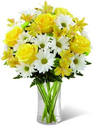 The FTD Sunny Sentiments Bouquet from Clermont Florist & Wine Shop, flower shop in Clermont