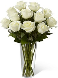 White Rose Bouquet from Clermont Florist & Wine Shop, flower shop in Clermont