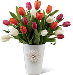 Tulip Trends Bouquet for Kathy Ireland Home from Clermont Florist & Wine Shop, flower shop in Clermont