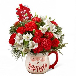Believe Mug Bouquet  from Clermont Florist & Wine Shop, flower shop in Clermont