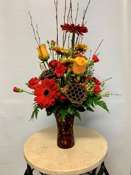 Autumn Vase arrangement from Clermont Florist & Wine Shop, flower shop in Clermont