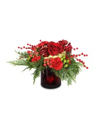 Crimson Cheer from Clermont Florist & Wine Shop, flower shop in Clermont