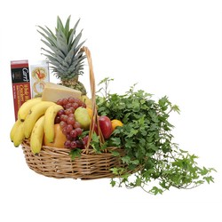 Fabulous Fruit and Cheese Basket from Clermont Florist & Wine Shop, flower shop in Clermont