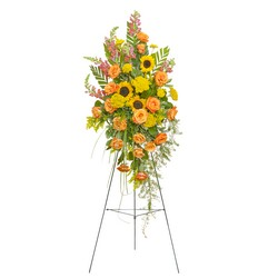 Heaven's Sunset Standing Spray from Clermont Florist & Wine Shop, flower shop in Clermont