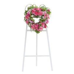 Peaceful Pink Heart Spray from Clermont Florist & Wine Shop, flower shop in Clermont