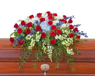 Honor Casket Spray from Clermont Florist & Wine Shop, flower shop in Clermont