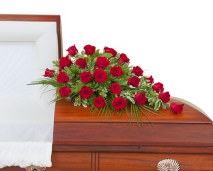 Simply Roses Standard Casket Spray from Clermont Florist & Wine Shop, flower shop in Clermont