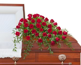 Simply Roses Deluxe Casket Spray from Clermont Florist & Wine Shop, flower shop in Clermont