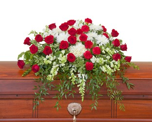 Enduring Strength Casket Spray from Clermont Florist & Wine Shop, flower shop in Clermont
