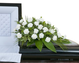 Simple Love Casket Spray from Clermont Florist & Wine Shop, flower shop in Clermont