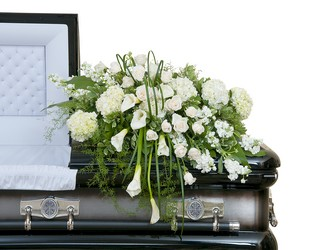 Elegant Love Casket Spray from Clermont Florist & Wine Shop, flower shop in Clermont