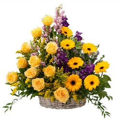 Vivid Memories Basket Tribute from Clermont Florist & Wine Shop, flower shop in Clermont