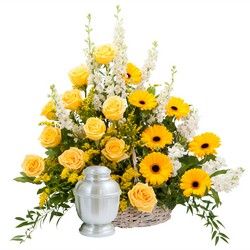 Rays of Sunshine Basket Surround from Clermont Florist & Wine Shop, flower shop in Clermont