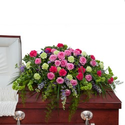 Forever Cherished Casket Spray from Clermont Florist & Wine Shop, flower shop in Clermont