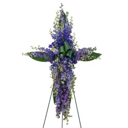 Lovingly Lavender Cross from Clermont Florist & Wine Shop, flower shop in Clermont