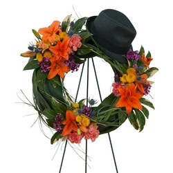The Good Times Wreath from Clermont Florist & Wine Shop, flower shop in Clermont