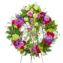Forever Cherished Wreath from Clermont Florist & Wine Shop, flower shop in Clermont