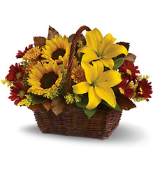 Golden Days Basket from Clermont Florist & Wine Shop, flower shop in Clermont