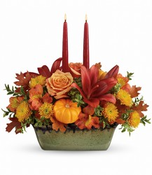Teleflora's Country Oven Centerpiece from Clermont Florist & Wine Shop, flower shop in Clermont