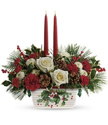 Halls Of Holly Centerpiece from Clermont Florist & Wine Shop, flower shop in Clermont