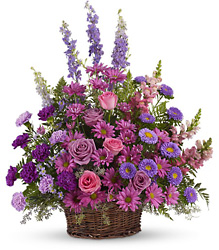 Gracious Lavender Basket from Clermont Florist & Wine Shop, flower shop in Clermont