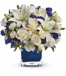 Sapphire Skies Bouquet from Clermont Florist & Wine Shop, flower shop in Clermont